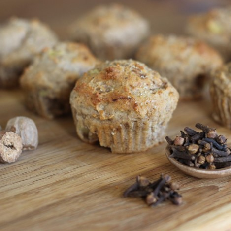 Chai Spiced Apple Oatmeal Muffins - £0.75