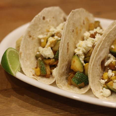 Courgette, Corn, and Feta Tacos - £1.00