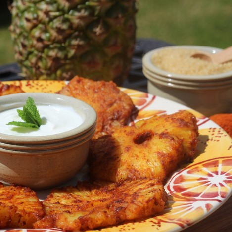 Spicy Grilled Pineapple - £0.60