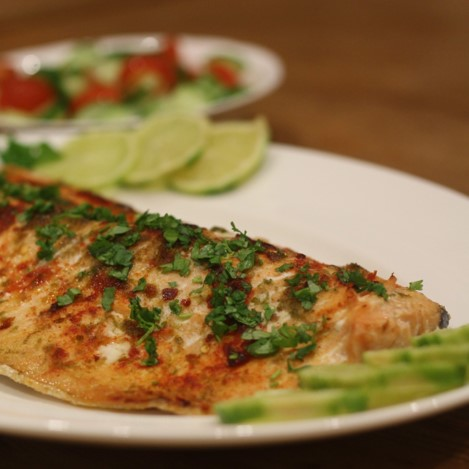 Chilli and Lime Baked Salmon - £0.65