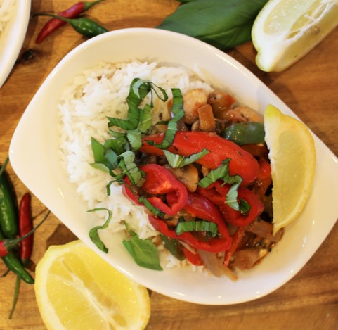 Vegetable Thai Red Curry - £1.25