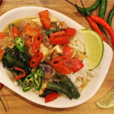 Panang vegetable curry - £1.25