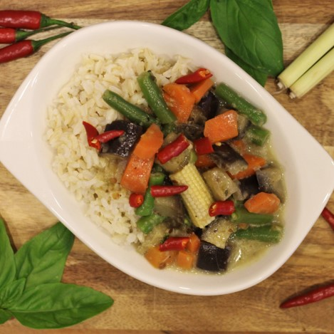 Thai green vegetable curry - £1.25