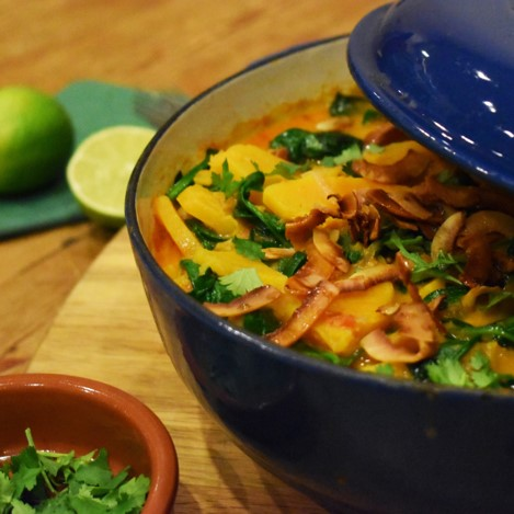 Butternut squash curry with coconut - £1.60