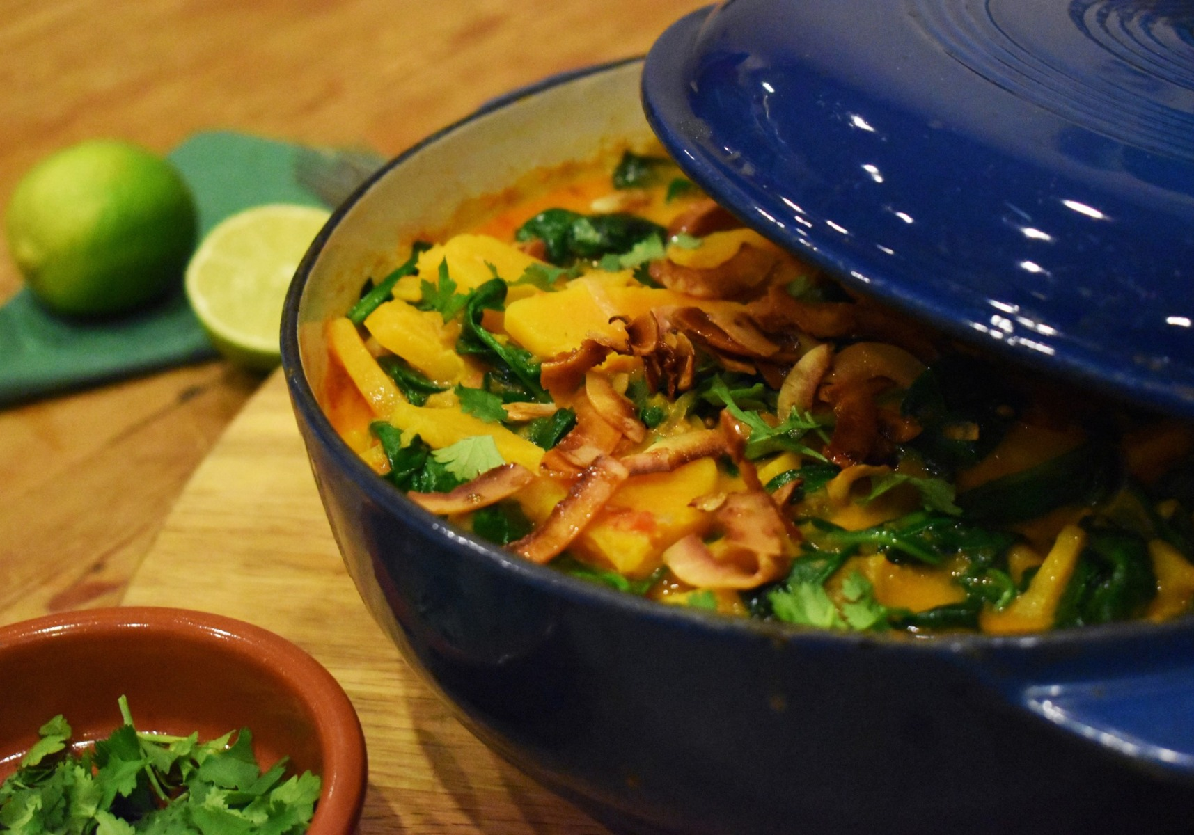 Butternut squash curry with coconut