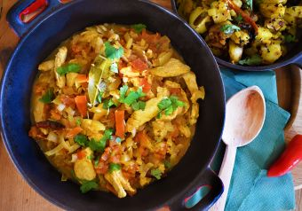 Hyderabadi dopiaza chicken