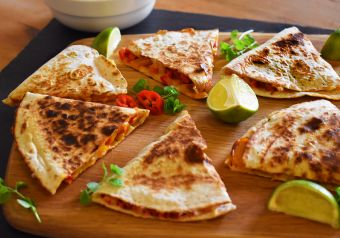 Smoky chicken quesadilla