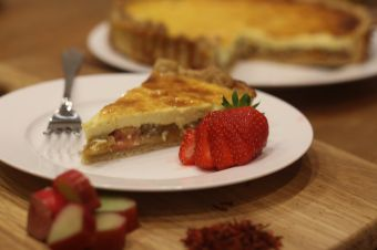 Rhubarb and Saffron Cream Tart