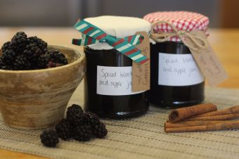 Spiced Blackberry and Apple Jam