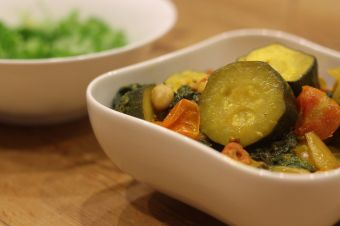 Spiced Courgettes